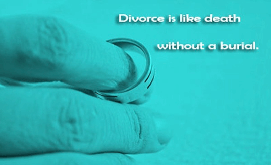 divorce is like death without burial